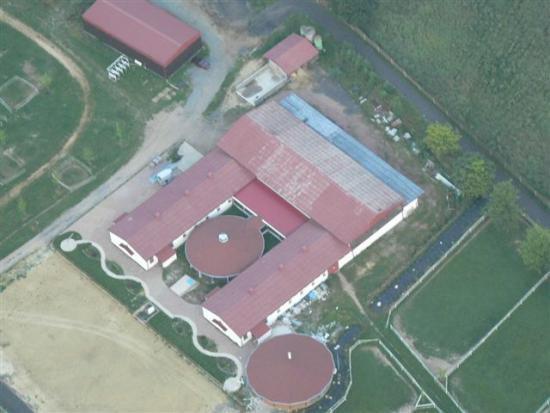 Farma z nadhledu