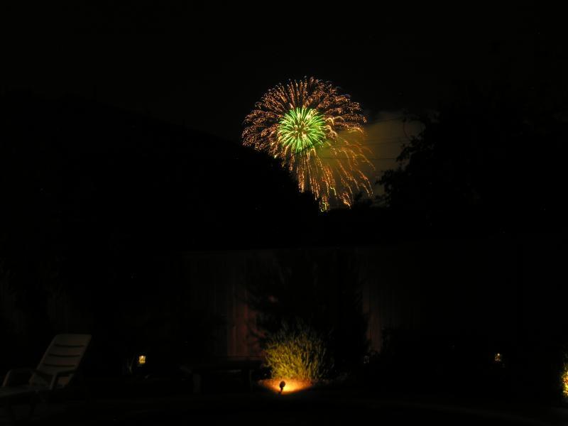 Enjoy Disneyland fireworks from our backyard and frontyard!