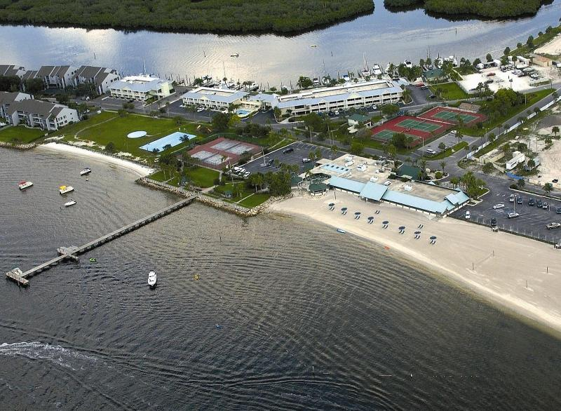Ariel view of the Resort on Tampa Bay