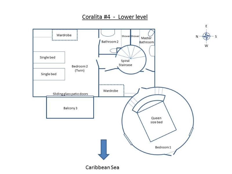 Lower (Bedroom) level Layout