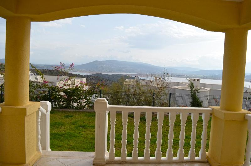 View from our balcony at Tuzla lake