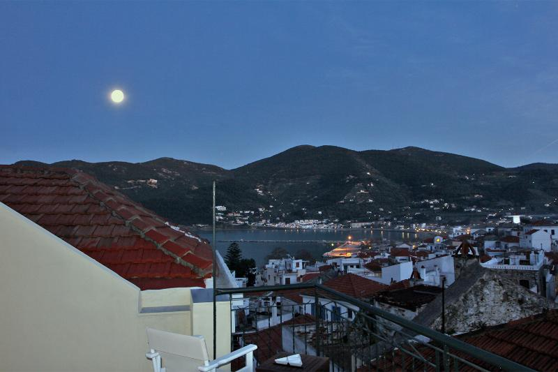 Lovely night views from roof terrace.