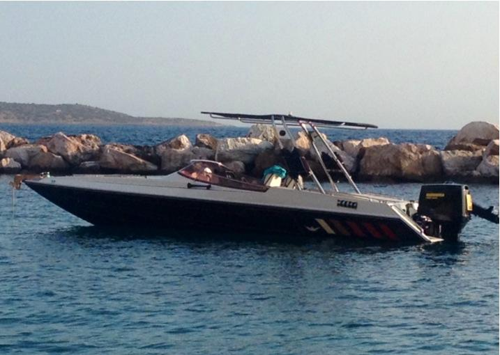 our boat offered for walks and diving