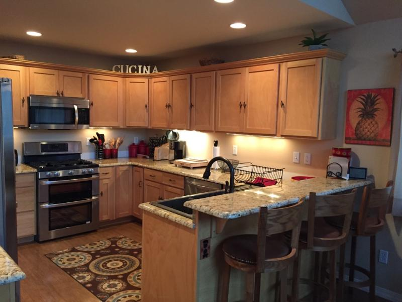 Fully Stocked Kitchen with everything you need to create meals on your vacation
