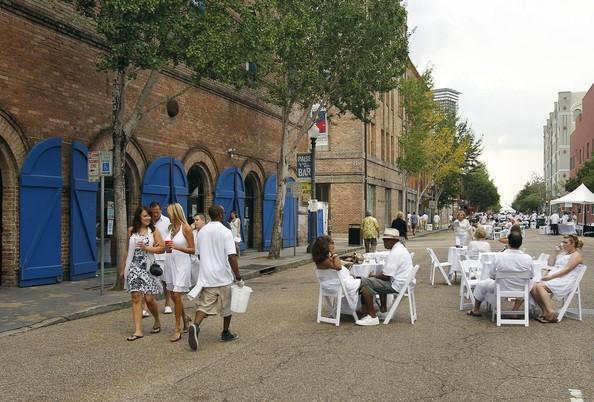 Julia Street preparing for White Linen Night, an evening dedicated to the arts.