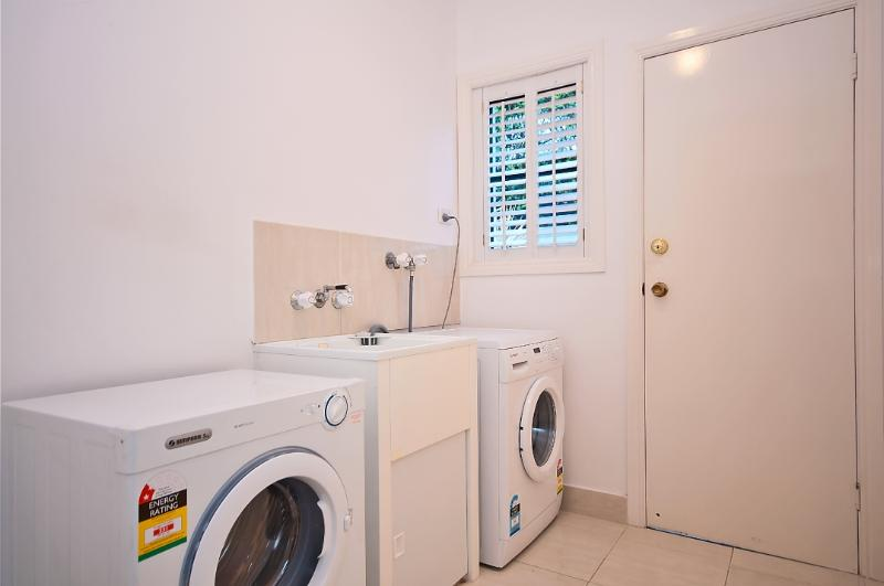 Laundry.  There is a downstairs toilet/powder room off the laundry.