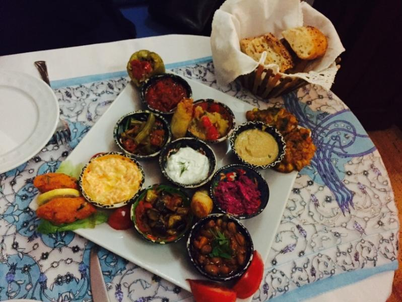 Mixed mezze at Kucuk Ev (Small House) in the Old Town