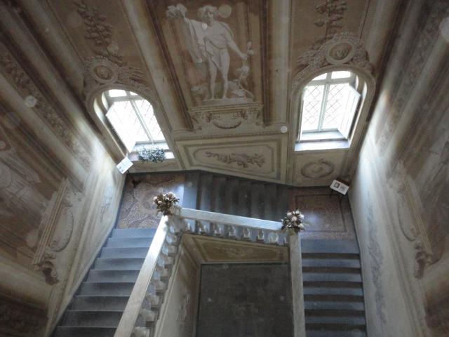 The monumental staircase at Villa Di Lupo Parra