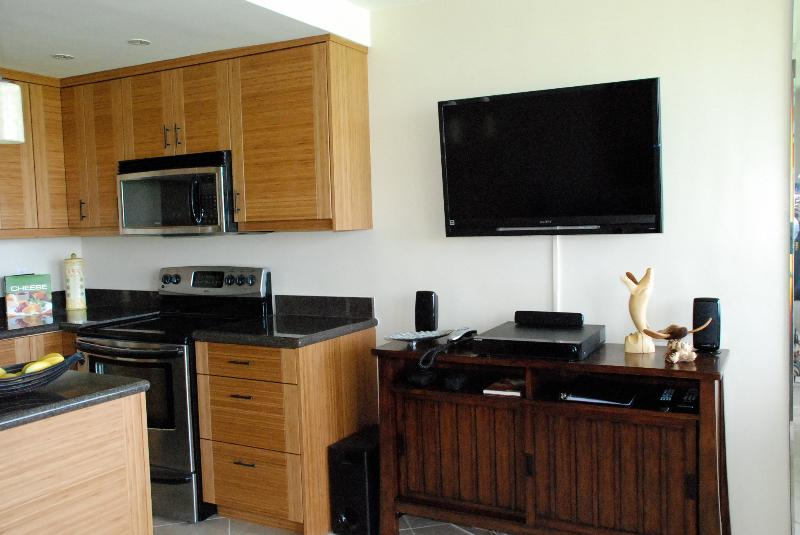 42 inch flat screen TV with DVD player and surround sound system. Cable TV and WiFi included.