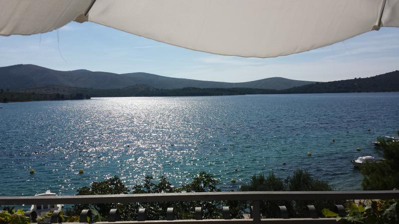 The Oštrica Peninsula as seen from your balcony