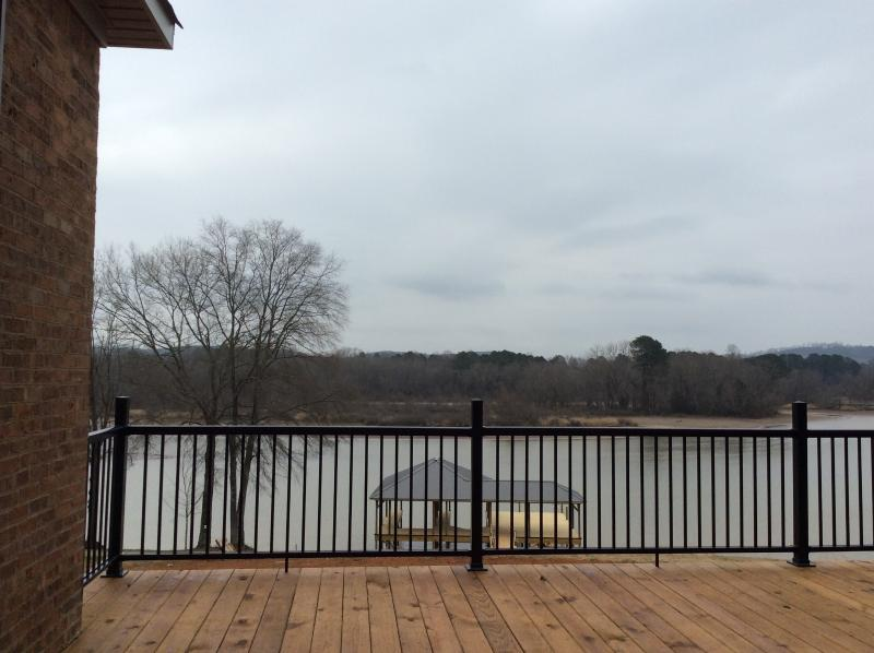 Back Porch View of Lake and Mountains