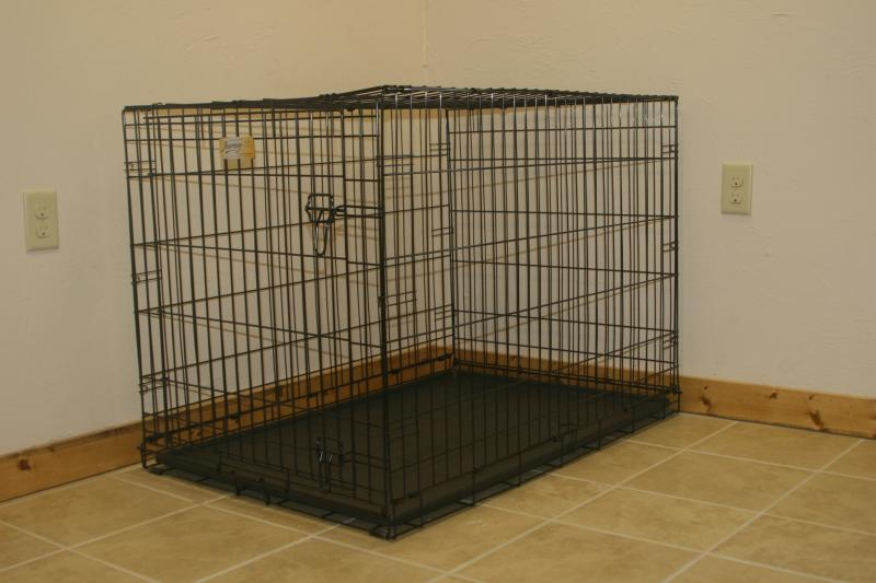 We even provide a crate if you have to leave your fur baby alone in the cabin.