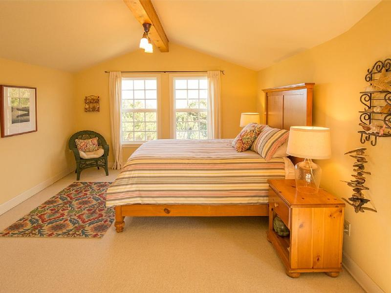 Master Bedroom off Great Room with north facing windows.