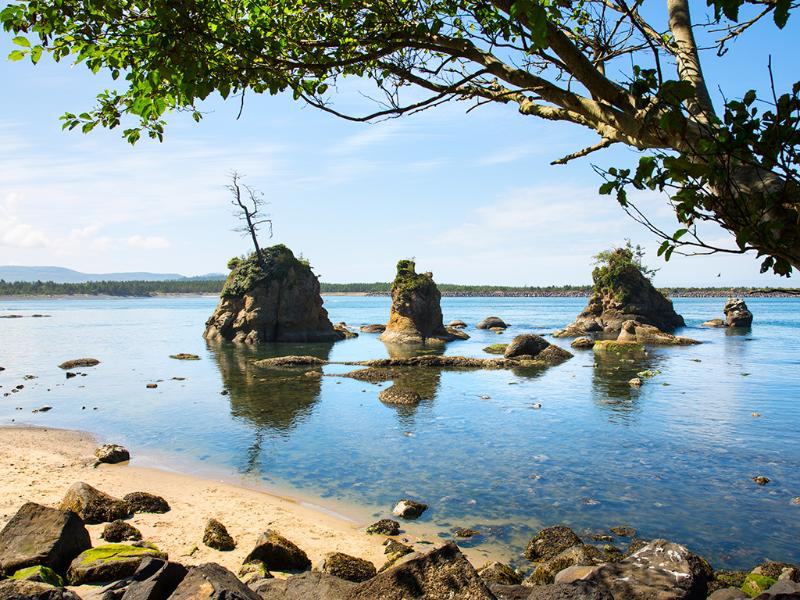 Nearby dramatic rock formations & shoreline tide pools