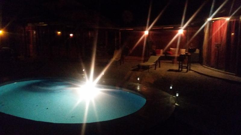 Moonlight swims are encouraged. Condo pools usually don't allow swimming after 8pm (6pm for kids).