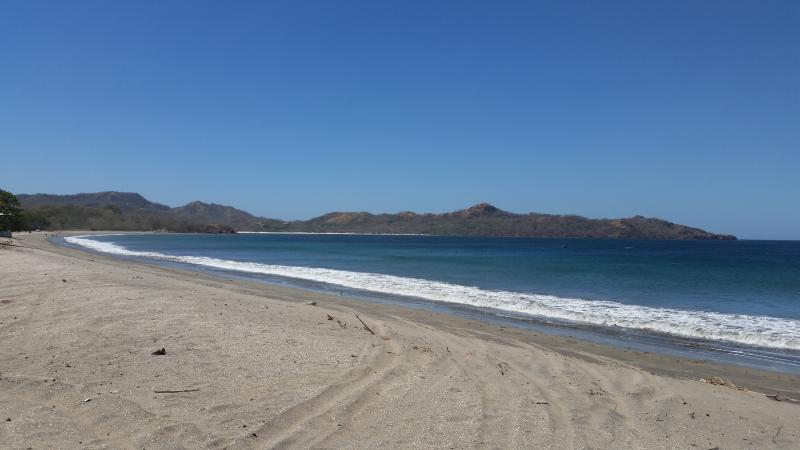 Looking from Brasilito over to Playa Conchal. Notice the pure white sand in the distance.
