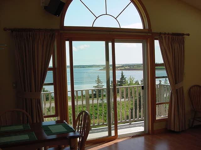 Front window overlooking North Rustico Bay