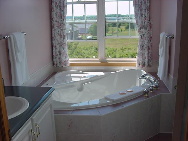 4 piece bath with air tube and stand up shower