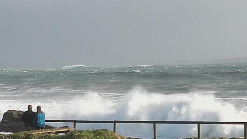 Tempête pointe Finistère! Plage de Portez
