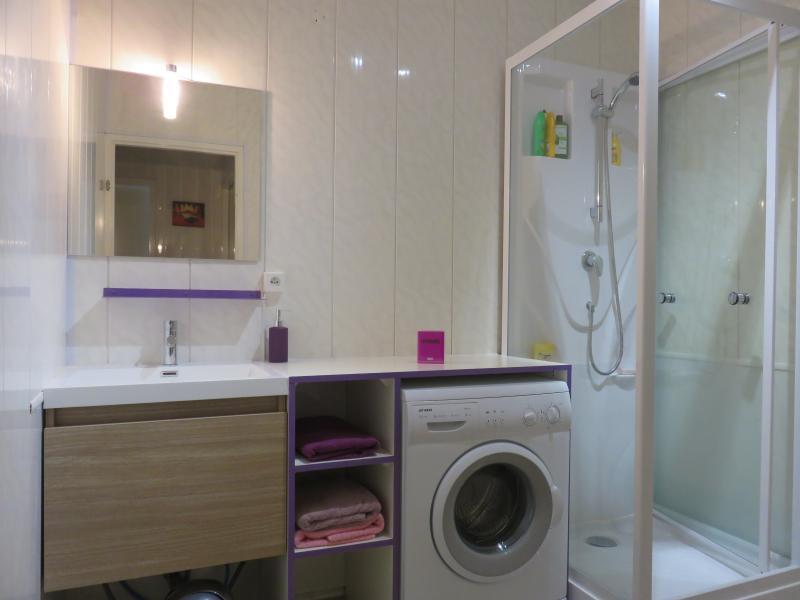 SALLE DE BAIN : avec cabine de douche et lave-linge