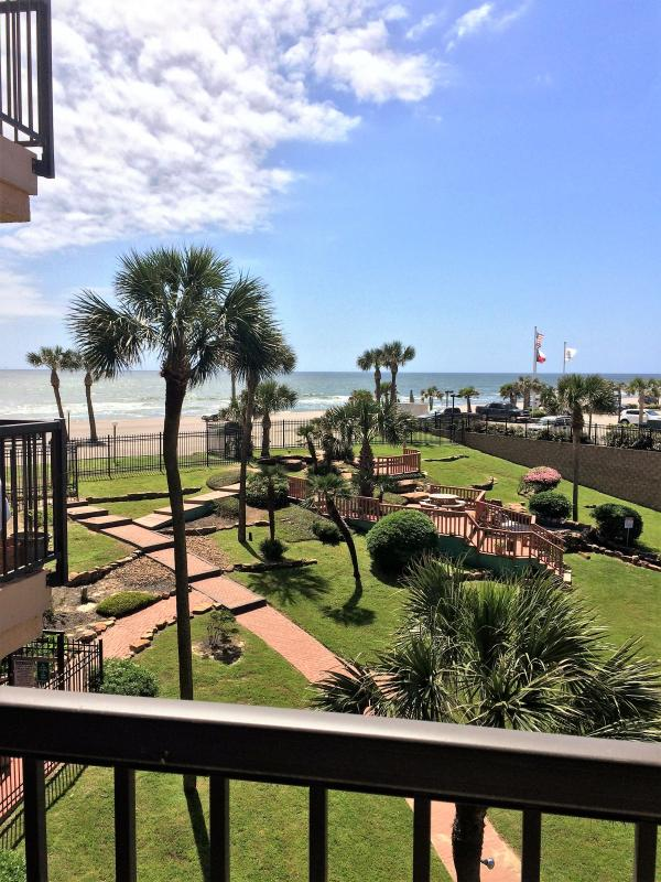 Beautiful oceanfront views from the balcony.