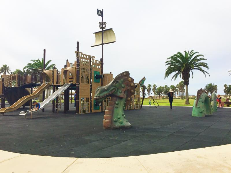 Oxnard Park is a short bike ride away and offers a pirate-themed park, yoga classes, and bike trails