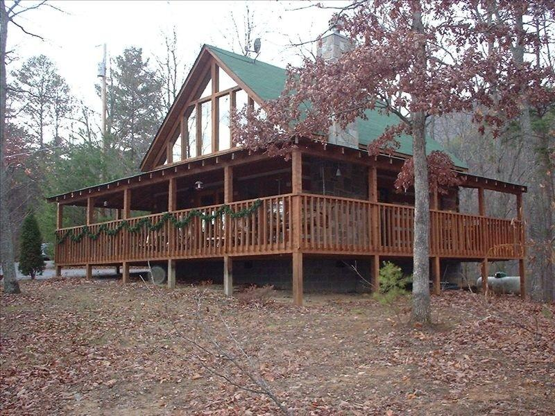 Almost 2 acres of wooded peacefulness..  Yet within 8 to 10 minutes of downtown Pigeon Forge