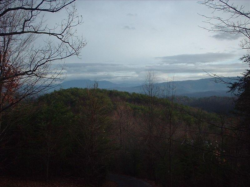 Those are the Great Smokies out there.  You cn see North Carolina from the porch.