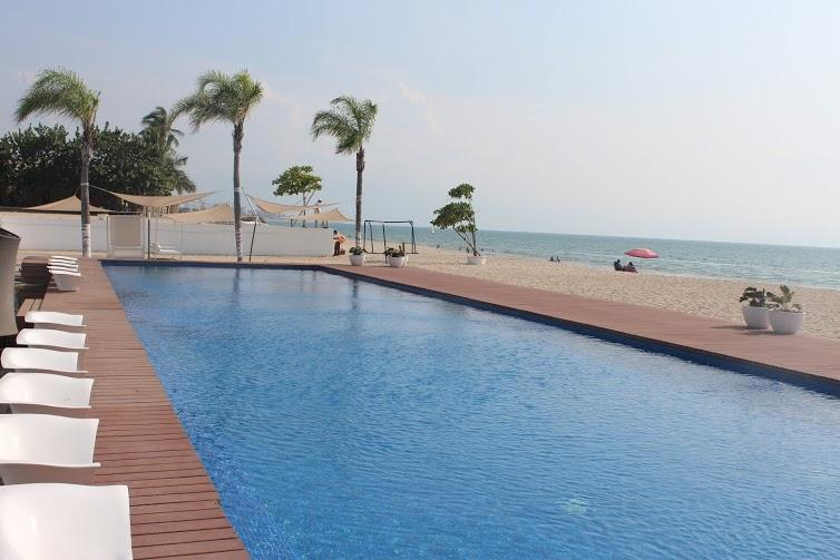 Pool by the beach