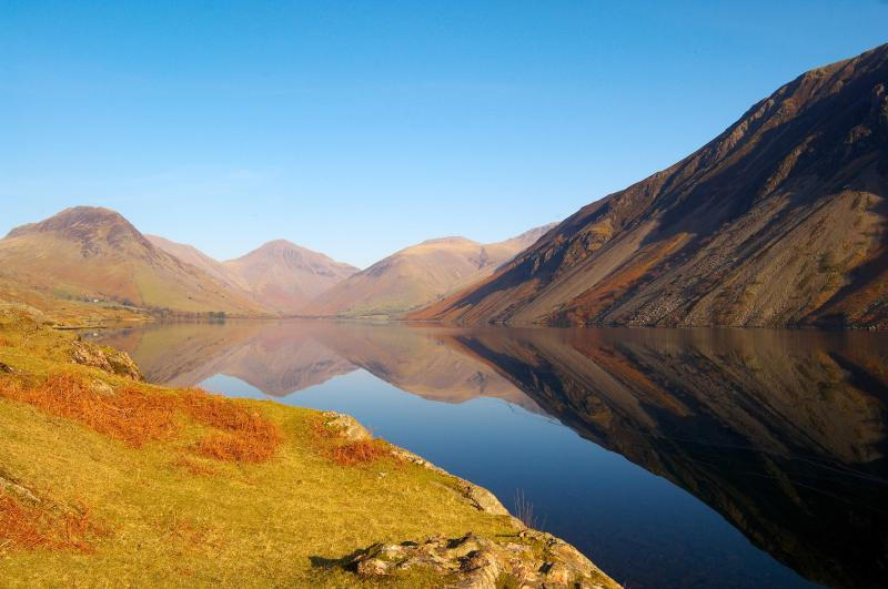 Reflections on Wastwater, a pleasant walk away