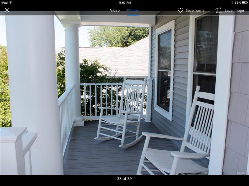 Comfortable front porch to relax