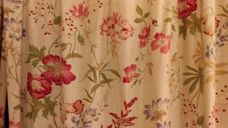Brand new floral curtains