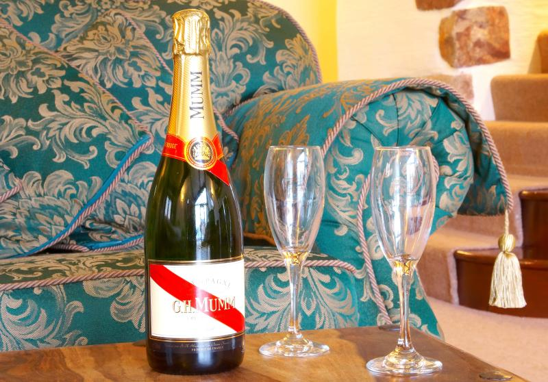 Celebrate your special occasion with champagne on your arrival