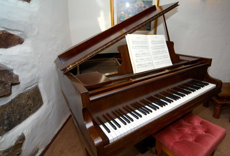 Antique baby grand piano, ready to play!