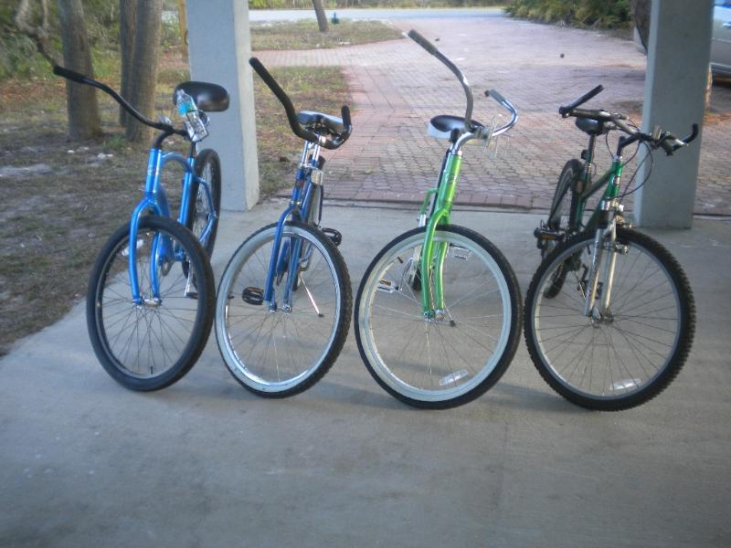 Four adult bikes for your riding pleasure!