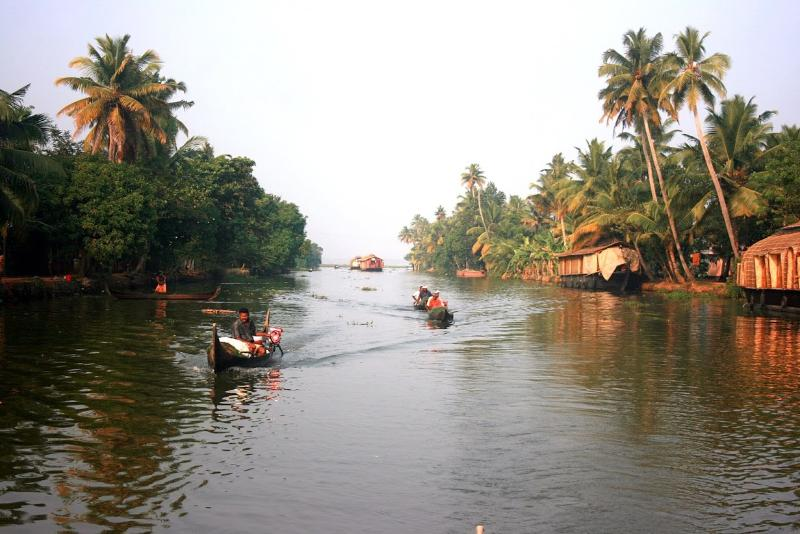A Backwater scene in Kerala