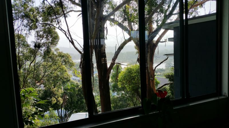 view to hinterland and Currumbin Creek from dining area