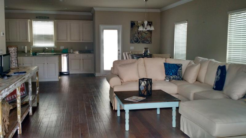 Large open downstairs is great for entertaining and relaxing