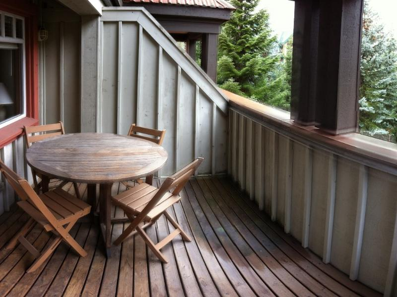 3rd floor terrace off Master Bedroom, stunning views of Blackcomb Mountain