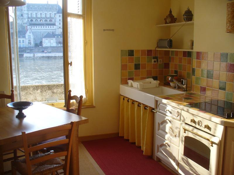 Gîte du rez-de-chaussée : la Loire est toute proche, le château juste en face
