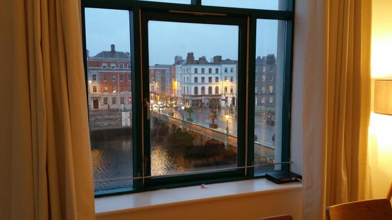 From the living room, enjoy spectacular views across Dublin City