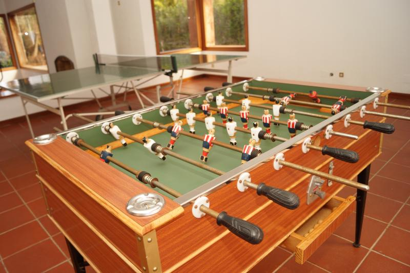 Ping pong and table football.