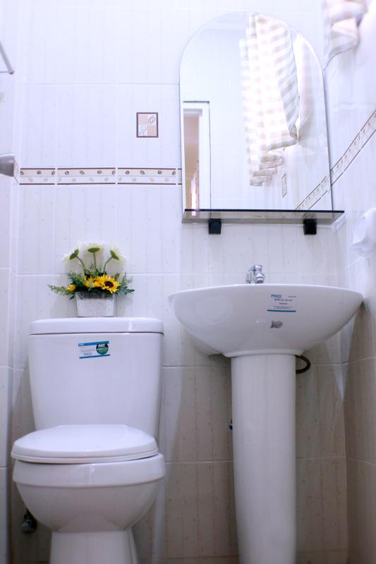 Toilet with hot and cold shower