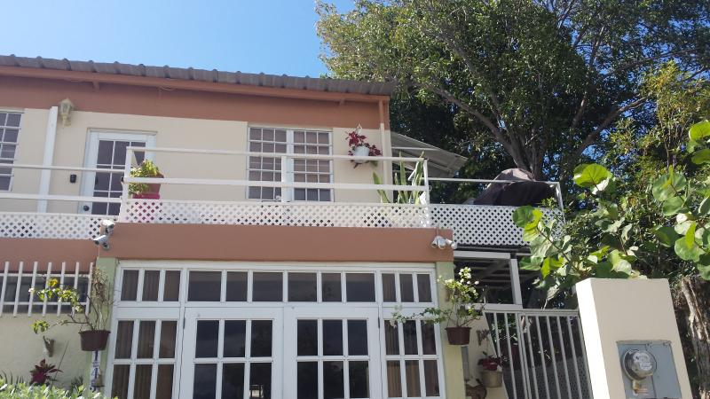 This picture shows the front of the house in which the private bedroom is located.