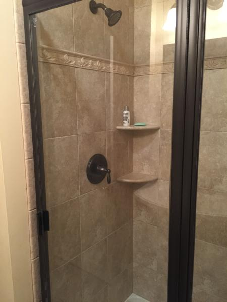 Bathroom 3 with shower near Bedrooms with Queen Beds