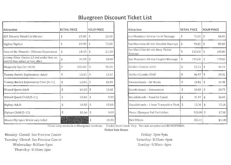 DISCOUNTED Wisconsin Dells Attraction Tickets Available to Bluegreen Guests!