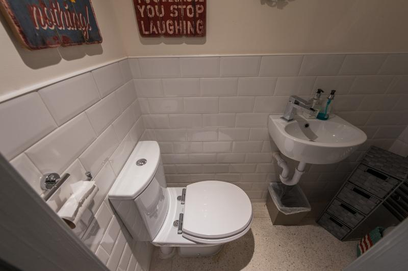 Half Bathroom under the stairs
