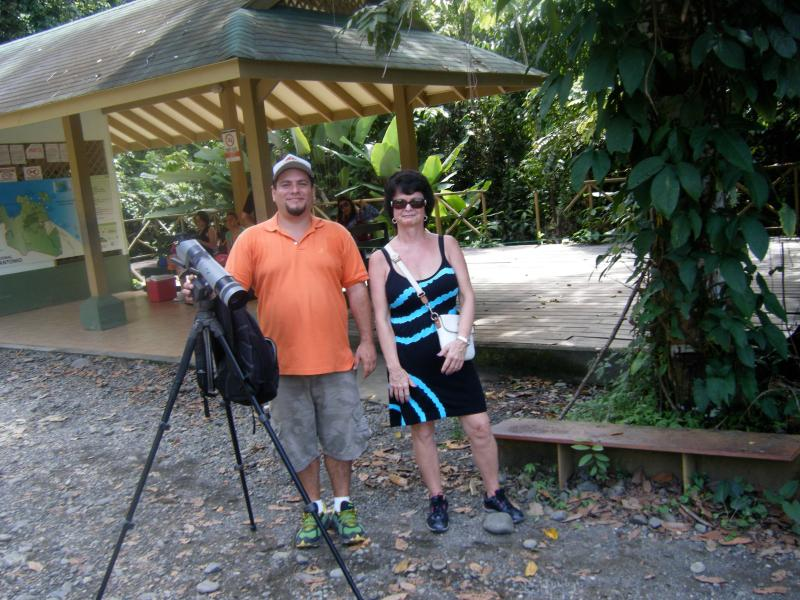 My wife and a tour guide after a tour of Manuel Antonio Park. He took great photos.