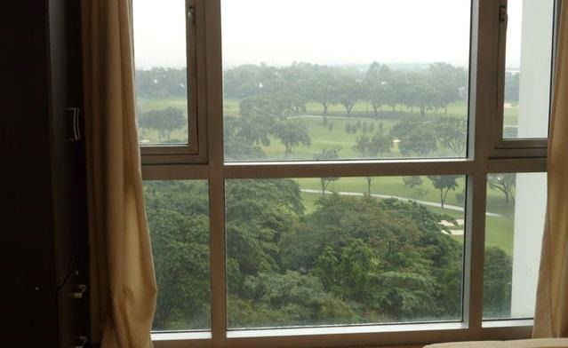 View to golf course