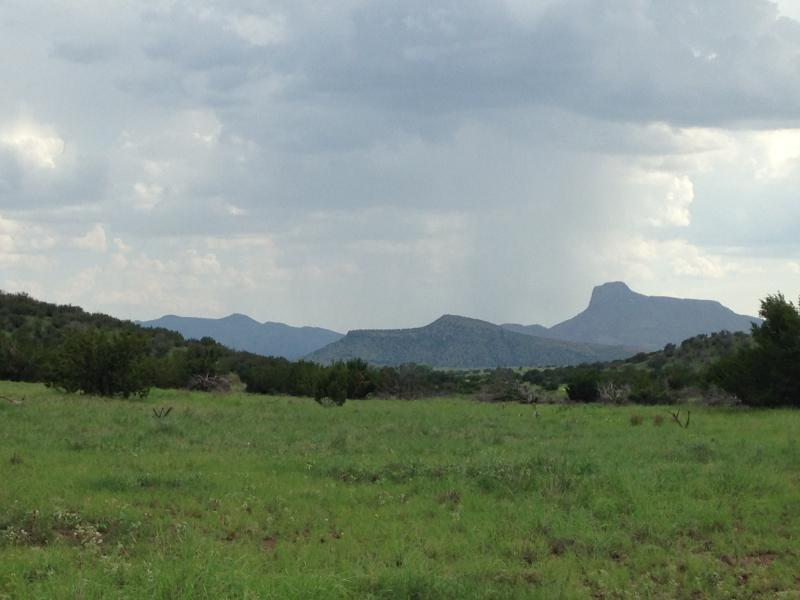 Cathedral mountain after summer rains